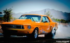 Orange Ford Mustang Smoking tires at Starting line Tucson Race Track Please share my work by clicking one of the social buttons below. Tucson Car, Jet Plane, Moriarty, Car Show, Ford Mustang, Photo Credit, Cool Cars, Fine Art America, Transportation