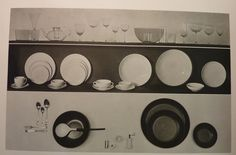 "Alfred Barr est membre du jury du concours ""organi design"" au MOMA avec Alvar Aalto, Breuer, etc... - Věra Lišková's Bowl and Tumbler in a photograph by Herbert Matter, published in: Alfred H. Barr Jr., ed., Masters of Modern Art. New York: The Museum of Modern Art, 1958, page 226."