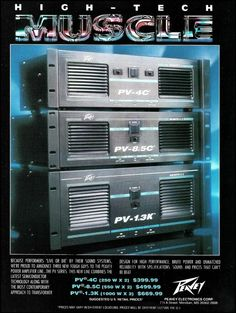 The Peavey PV Power Amp Series. carefully taken from a guitar magazine. Washburn Acoustic Guitar, Fender American Deluxe, Audio Amplifier, Speakers, Audio Rack, Guitar Magazine, Signature Guitar, Guitar Photos, Stratocaster Guitar