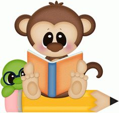 View Design #64827: monkey & worm reading book pnc