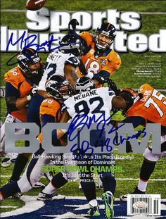 "Michael Bennett & Brandon Mebane Autographed Sports Illustrated Magazine Seattle Seahawks """"SB 48 Champs"""" MCS Holo Stock"