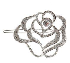 Fae rose hair clip