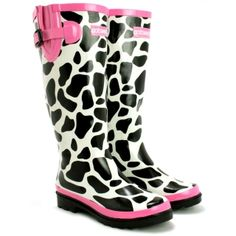 Cotswold cow print Ladies Wellies
