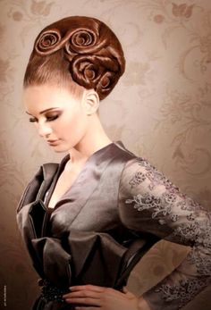 Wedding Hair Styles With A High Bun Beautiful Style Design 407x600 Pixel