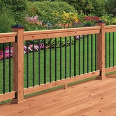 Building A Deck 450852612697721416 - DeckoRail 6 ft. Redwood Deck Rail Kit with Black Aluminum Balusters Source by Deck Railing Kits, Deck Railing Design, Patio Railing, Patio Deck Designs, Deck With Pergola, Pergola Kits, Patio Design, Deck Balusters, Aluminum Deck Railing