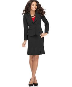 Macy's - AGB Two Button Suit Jacket & Box Pleat Skirt (Sold Separately)