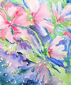This watercolour is part of a series of summer flowering garden inspired artwork. The lovely pink Lav. Arches Watercolor Paper, Watercolour Painting, Original Artwork, Original Paintings, Summer Garden, Fabric Design, Paint Colors, Pink, Inspiration