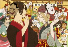 Hoozuki~Hoozuki no Reitetsu & Kusuriuri~Mononoke Cartoon As Anime, Anime Manga, Anime Art, Anime Crossover, Mononoke Anime, Gekkan Shoujo, Natsume Yuujinchou, Ghibli Movies, Anime Kunst