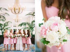 Beautiful blush and white with an amazing backdrop #wedding #blush #bouquet @Mandy Dewey Seasons Bridal