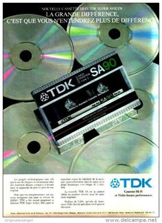 Original-Anzeige / Publicité 1983 - (en français) TDK CASSETTE HIFI -  ca. 220 x 280 mm