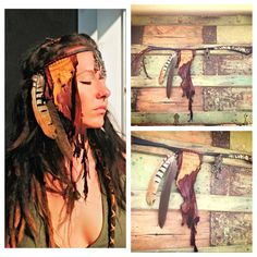 Base Chakra    Leather headband with leather by thegypsiescaravan, $80.00