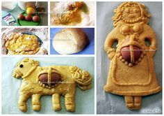 Pupe e cavalli ricetta regionale abruzzese Gimme Some Sugar, Gingerbread Cookies, Food Art, Italian Recipes, Waffles, Biscuits, Food And Drink, Cooking Recipes, Easter