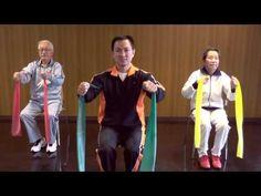 Exercícios com faixa elástica para idosos (Elastic band exercises) - YouTube