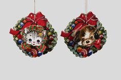 Блесна и Рождественские украшения с кошек и собак - Инге-Glas