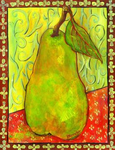 Impressionist Style Pear Painting  - Impressionist Style Pear Fine Art Print from $22