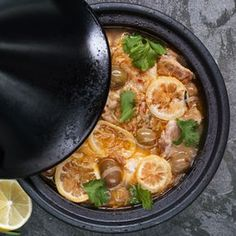 Moroccan Chicken Tagine with Fresh Figs. Fig season is fleeting, so get 'em while you can. There will be plenty of time for this in the fall. Fig Recipes, Fodmap Recipes, Tagine Recipes, Slow Cooker Recipes, Crockpot Recipes, Chicken Recipes, Recipe Chicken, Healthy Chicken, Split Chicken Breast