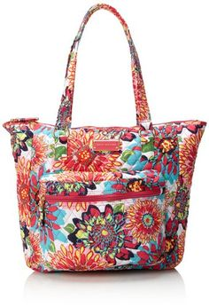 Tommy Hilfiger Splashy Floral Zip Pocket Tote,Pink/Multi Splashy Floral,One Size