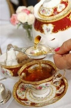 High tea poured for you