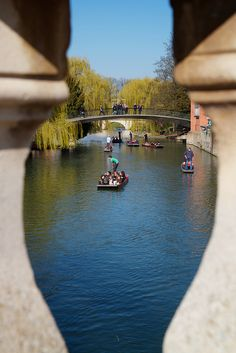 Punting on the river, Cambridge