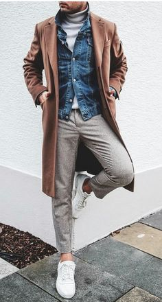 Smart Casual Dresscode Smart Casual Dresscode Beispiel 5 The post Smart Casual Dress Code & Herbst/Winter appeared first on Mens Style . Korean Fashion Men, Fashion Mode, Look Fashion, Fashion Photo, Fall Fashion, Fashion Ideas, Womens Fashion, Mens Fashion Blazer, Denim Fashion