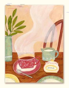 seattle-based illustrator who loves tea and making cute stuff Fika, Christmas Wishes, Doodle Art, Fine Art Paper, Art Inspo, Colored Pencils, Tea Party, Illustration Art, Art Prints