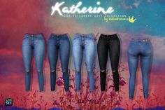 Realistic jeans! http://sims4updates.net/clothing/katherine-tops-skirts-jeans-at-in-a-bad-romance/