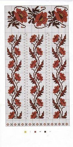 Gallery.ru / Фото #100 - Вишиванка 4 - widpuckau Cross Stitch Borders, Modern Cross Stitch, Cross Stitch Charts, Cross Stitch Designs, Cross Stitching, Cross Stitch Patterns, Folk Embroidery, Beaded Embroidery, Cross Stitch Embroidery