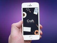Craft. App | Flat Style