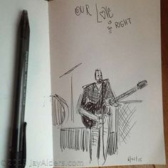 Dave Matthews sketched by Jay Alders