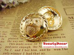 6 stuks 24.5mm metalen knop (BM51_3) van beauty decor op DaWanda.com
