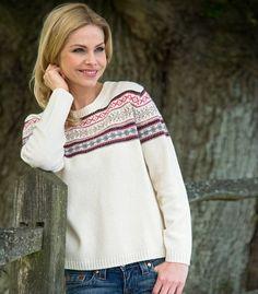 Women's Fair Isle Sweater | Crew Neck | Wool Overs USA