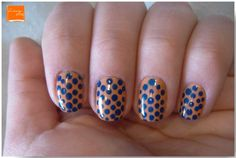 Esmalte da Semana | Zum Zum Zum (Colorama) | Azul (Puella) | Nail Polish | Nail Art | Perspectiva Laranja