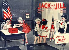 This vintage Jack and Jill magazine cover sure gets my vote on the cuteness front!