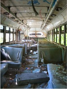 Inside the bus where Chris stayed for the last few months of his life. This is where he died.