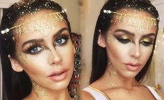 Carli Bybel's Golden Goddess makeup tutorial. Looks pretty fucking fabulous.