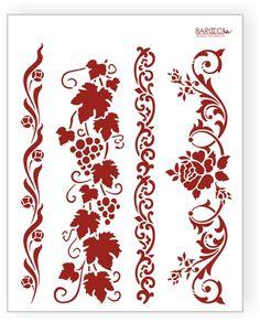 L-037   Stencils Barocci