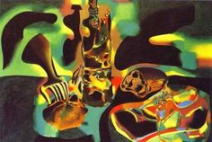 "Miro - Stil lLife with Old Shoe (1937) ""In general, art historians interpret the emotional ambiance of the ""wild"" pictures as seismographihc, communicating the shudders of pre-civil war Spain"" (Janis Mink)"