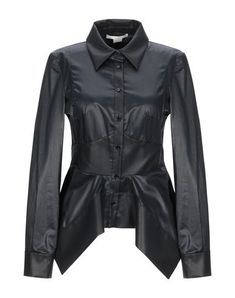 Plain weave No appliqués Basic solid color Long sleeves Classic neckline Front closure Button closing Buttoned cuffs No pockets Small sized Antonio Berardi, Sport, Black Blouse, World Of Fashion, Luxury Branding, Shirt Blouses, Motorcycle Jacket, Leather Jacket, Blazer