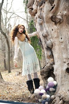 Ravelry: #07 Mohair Lace Dress pattern by Laura Zukaite