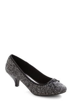 Metro Marvelous Heel in Grey, #ModCloth $49.99