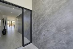 ROCKCOTE Venetian Plaster produces a reflective, highly polished plaster finish, applied by modern artisans. Ideal for crafting a dramatic polished cement render or polished concrete industrial look. Polished Cement, Polished Plaster, Stucco Walls, Cement Walls, Cement House, Interior Rendering, Interior Design, Cement Render, Rendered Houses