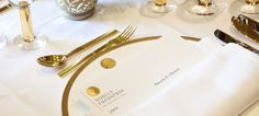Nobel Peace Prize dinner at Grand Hotel in Oslo, Norway - Photo: Grand Hotel Marketing Articles, Online Marketing, Grand Hotel, Cutlery, Norway, Dinnerware, Entertaining, Peace