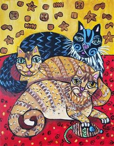 """Daily Paintworks - """"A Cats Dream"""" - Original Fine Art for Sale - © Kim Selig Gallery Website, Whimsical Art, Fine Art Gallery, No One Loves Me, Art For Sale, Are You Happy, Folk Art, First Love, Make It Yourself"""