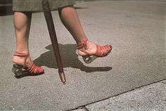 Shoes made with wooden soles because of wartime scarcity of leather, Paris 1942 (photo by Andre Zucca)