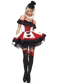 Pretty Playing Card Costume or Queen of Hearts fancy dress sexy halloween costum Queen Of Hearts Costume, Queen Costume, Adult Costumes, Costumes For Women, Wicked Costumes, White Costumes, Fantasy Costumes, Playing Card Costume, Original Halloween Costumes