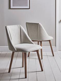 Chaise salle à manger chaise 2er Gris Chêne skandinvisches Design Structure Chaise de cuisine