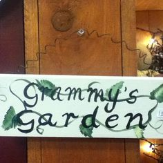 Garden sign @ the mulberry tree