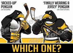 Now that the clinched the playoffs, I'm undecided on which mascot to use going forwar Pitt Penguins, National Hockey League, Pittsburgh Penguins, Cartoon Pics, Nhl, Old Things, Sports Logos, Superhero, Characters