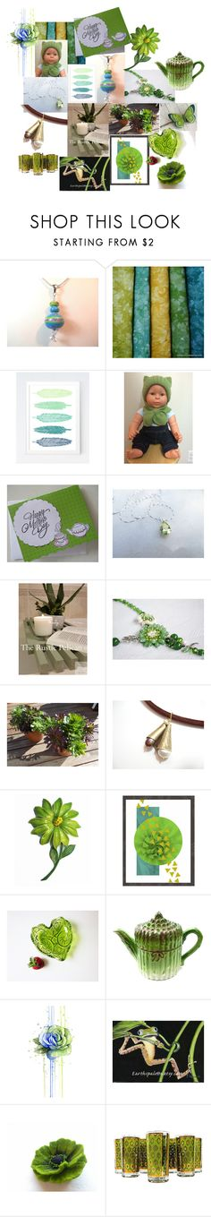 """Green Goods"" by inspiredbyten ❤ liked on Polyvore featuring vintage"