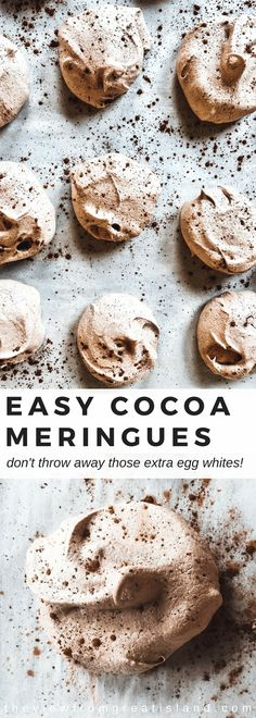 WMF Cutlery And Cookware - One Of The Most Trustworthy Cookware Producers These Easy Cocoa Meringues Are The Minimalist Of Cookies Just A Few Simple Ingredients Whip Up Into Something Magical Meringues Are A Naturally Gluten Free, Fat Free Treat # Cookies Sans Gluten, Dessert Sans Gluten, Gluten Free Desserts, Chocolate Meringue Cookies, Meringue Cookie Recipe, Meringue Recept, Easy Meringue Cookies, French Meringue, Chocolate Pavlova